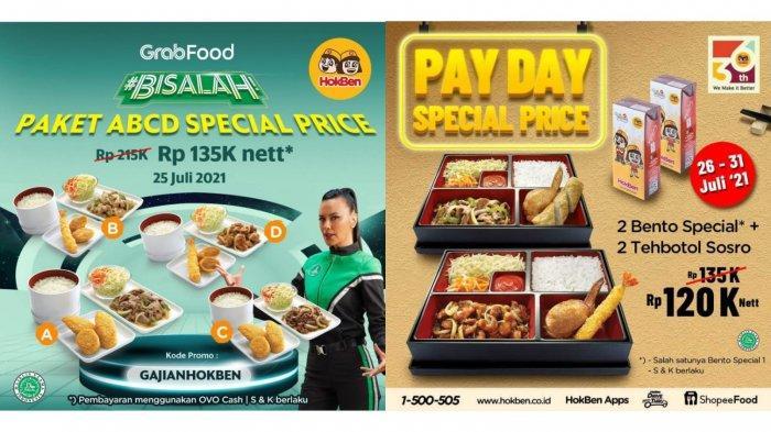 BARU Meluncur! Promo HokBen Periode 26-31 Juli 2021, 2 Bento Special dan 2 Tehbotol Sosro Rp 120.000