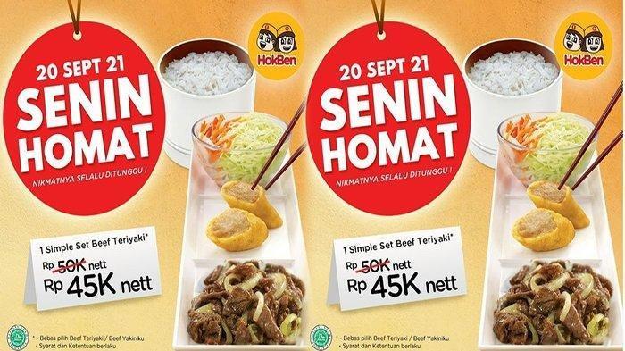 PROMO HokBen Senin 20 September 2021, Ada Diskon Makan Simple Set Beef Teriyaki