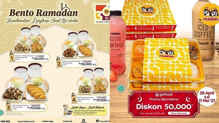 Promo Hokben TERBARU 1 Mei 2021, Diskon Rp50.000, Bento Ramadan Rp55.000, Gratis Minuman