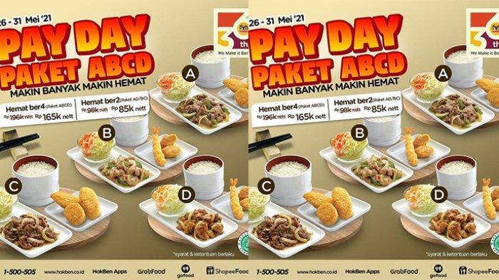 PROMO HOKBEN Hari Ini Rabu 26 Mei 2021, Ada Payday Paket ABCD Mulai Rp 85 Ribuan Untuk Berdua