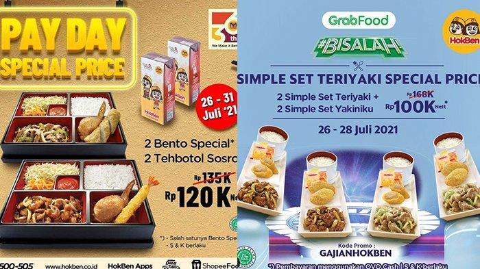 PROMO Hokben 27 Juli 2021, Menu Makan Berdua 2 Bento Spesial Plus Minum Hanya Rp 120 Ribuan
