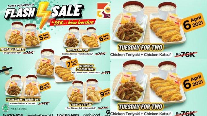 Promo HokBen TERBARU 6-9 April 2021, Chicken Teriyaki + Chicken Katsu Cuma Rp55.000, Flash Sale!