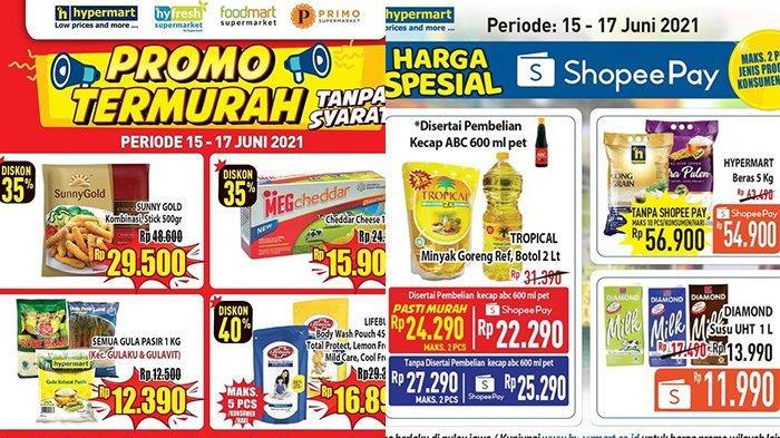 Promo Hypermart TERBARU 15-17 Juni 2021, Minyak Goreng Tropical 2 Liter Rp22.290, Sunligt Rp10.490