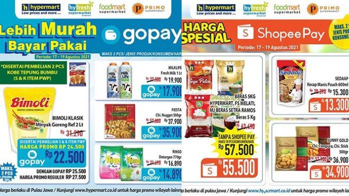Promo Hypermart TERBARU 17 - 19 Agustus 2021, Minyak Goreng Bimoli 2L Rp22.500,Beras 5Kg Rp55.500