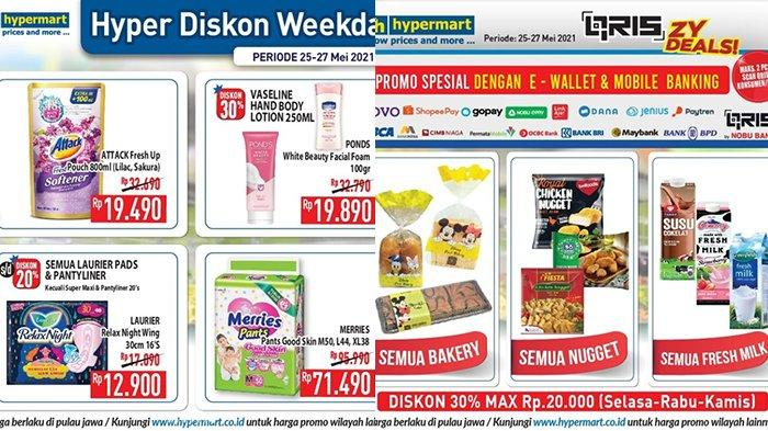 Promo Hypermart TERBARU 25-27 Mei 2021, Roti, Nugget, Susu Diskon 30%, Popok Potongan Rp24.500
