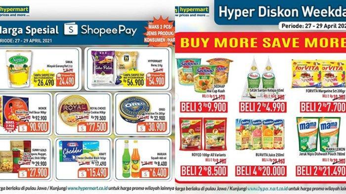 Promo Hypermart TERBARU 27-29 April 2021, Minyak Goreng Sania 2L RP24.900, Sirup Marjan Rp6.400