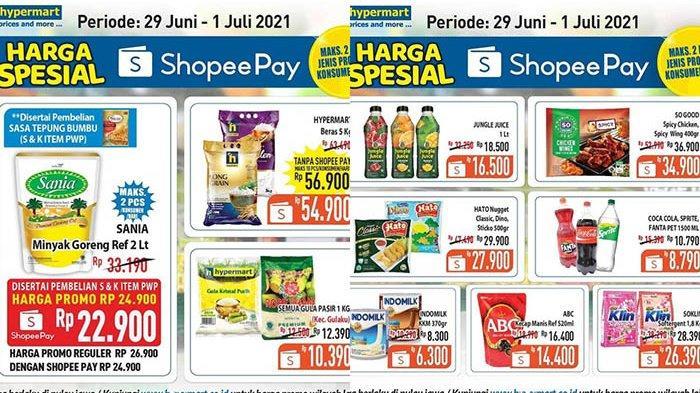 Promo Hypermart TERBARU 29 Juni - 1 Juli 2021, Minyak Goreng 2L Rp22.900,Susu Kental Manis Rp6.300