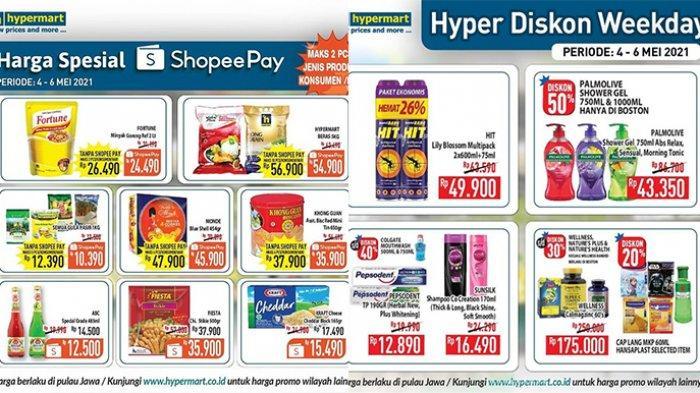 Promo Hypermart TERBARU 4-6 Mei 2021, Minyak Goreng 2L Rp24.490, Popok, Roti, Sabun Diskon 50%