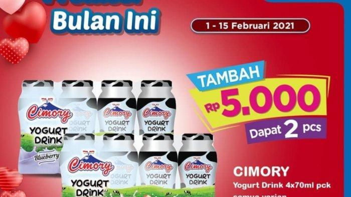 Promo Indomaret 1-15 Februari 2021, Cimory Yogurt Tambah Rp5.000 Dapat 2, Beli Susu Gratis Keju