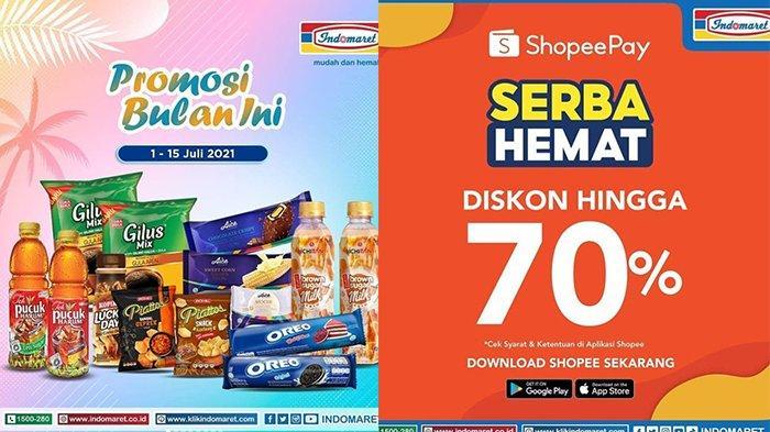 Promo Indomaret 13 Juli 2021, Diskon Susu, Kopi, Snack, Bayar Pakai ShopeePay Diskon hingga 70%