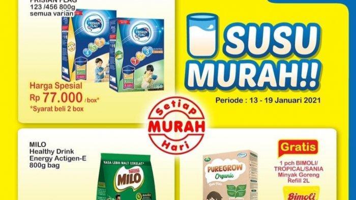 Promo Indomaret 14 Januari 2021, Beli Susu Gratis Minyak Goreng 2L, Ada Harga Spesial Untuk Diapers.