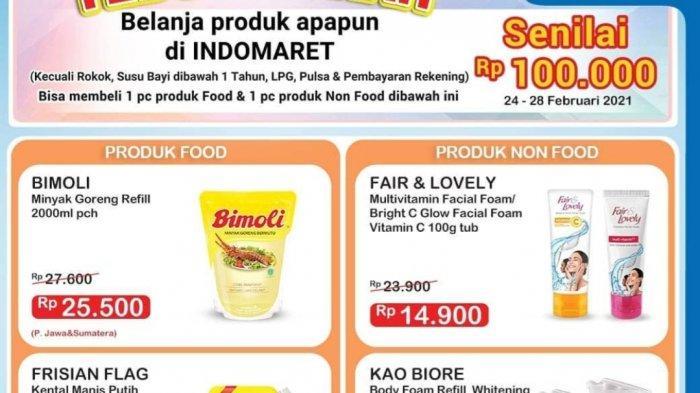 Promo Indomaret BERAKHIR HARI INI, Diskon Susu, Cokelat, Mi Instan, Popok, Minyak Goreng 2L Rp25.500
