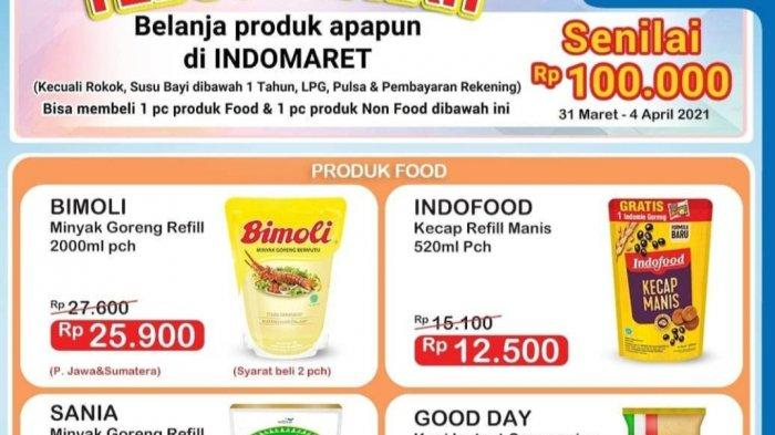 Promo Indomaret TERBARU 1 April 2021, Minyak Goreng 2L Rp25.900, Koko Krunch Rp14.900, Daia Rp11.500