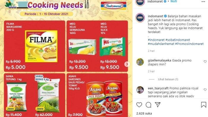 Promo Indomaret cooking needs ini bagian dari promo 1-15Oktober 2021