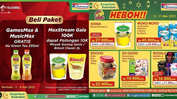 Promo Indomaret Hanya Sampai 9 Mei 2021, Gratis Minuman, Beli Minyak Goreng Potongan Rp10.000