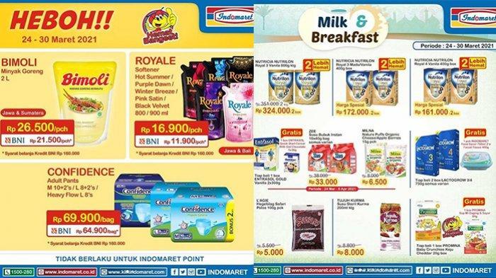 Promo Indomaret Hanya Hari Ini 30 Maret 2021, Minyak Goreng 2L Rp21.500, Susu Beli 2 Lebih Hemat