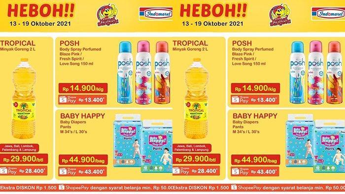 Promo Indomaret Harga Heboh TERBARU 13-19 Oktober 2021, Minyak Goreng Tropical 2 Liter Rp28.400