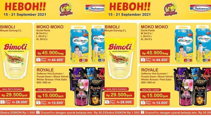 Promo Indomaret Harga Heboh TERBARU 15-21 September 2021, Minyak Goreng Bimoli 2 Liter Rp28.000