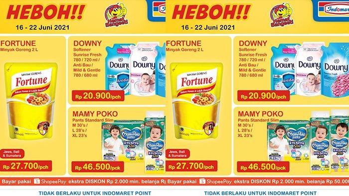 Promo Indomaret Harga Heboh TERBARU 16 - 22 Juni 2021, Minyak Goreng Fortune 2 Liter Rp27.700