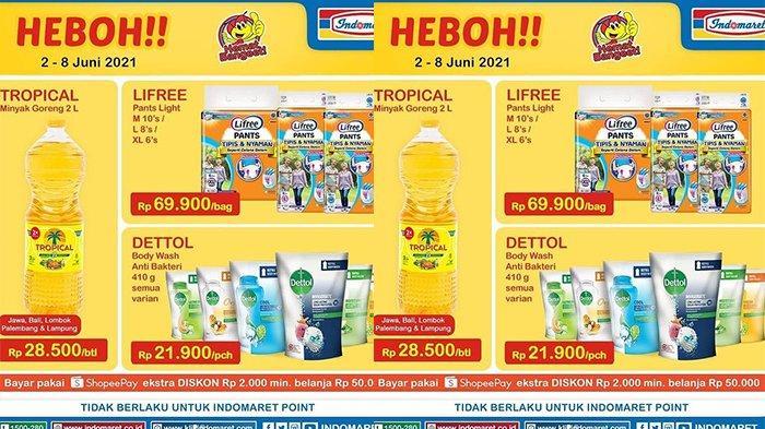 Promo Harga Heboh Indomaret Minggu 6 Juni 2021, Minyak Goreng 2L 28.500 Popok Bayi 69.900