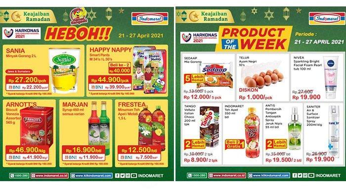 Promo Indomaret Kamis 22 April 2021, Minyak Goreng Sania 2L Rp22.200, Telur Rp1.000/Butir