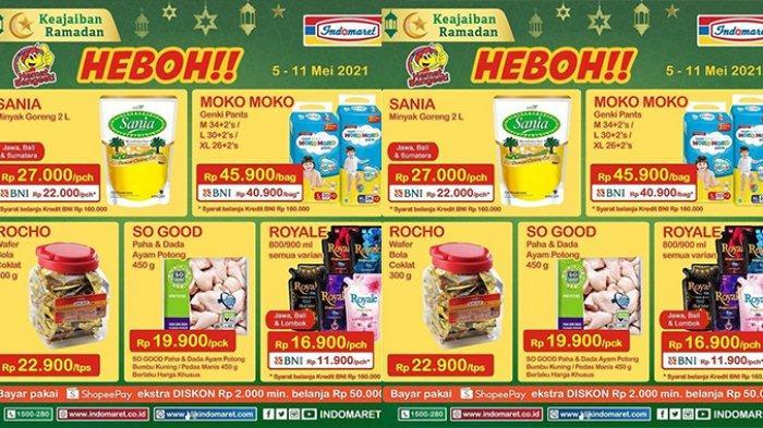 Promo Indomaret Harga Heboh TERBARU 5-11 Mei 2021, Minyak Goreng Sania 2 Liter Cuma Rp22.000