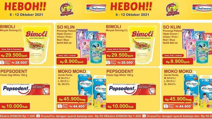 Promo Indomaret Harga Heboh TERBARU 8-12 Oktober 2021, Minyak Goreng Bimoli 2 Liter Rp28.000