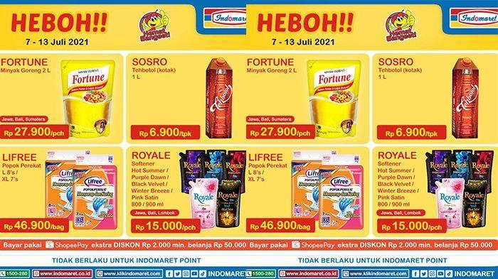Promo Indomaret Harga Heboh TERBARU 7 - 13 Juli 2021, Minyak Goreng Fortune 2 Liter Rp27.900