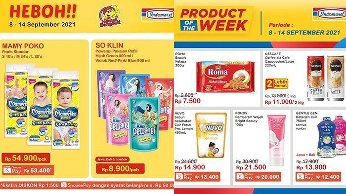 Promo Indomaret Harga Heboh TERBARU 8 - 14 September 2021, Pewangi Rp 8 Ribuan, Detergen Rp12.400