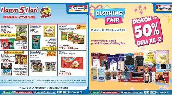 Promo Indomaret Hari Ini 19 Februari 2021: Pakaian Dalam, Handuk Diskon 50%, Beras Rp 58 Ribuan