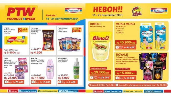 Promo Indomaret HANYA HARI INI 21 September 2021, Rexona 13.400, Daia 25.400, Minyak Goreng MURAH
