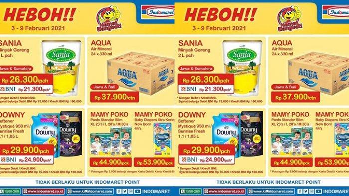 Promo Indomaret Hari Ini 3 Februari 2021, Harga Heboh Minyak Goreng Sania 2L Hanya Rp21.300