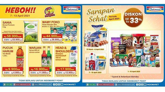 PROMO INDOMARET Hari Ini 8 - 13 April 2021 Marjan Rp11.900, Beras Sania Rp53.900, Diskon Sarapan 33%