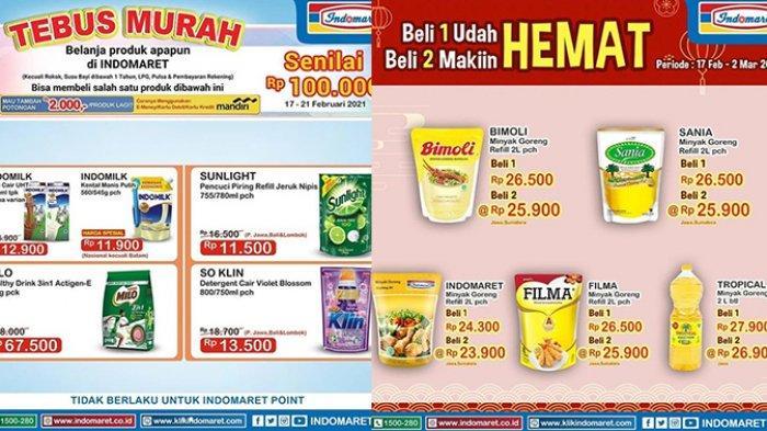 Promo Indomaret hari ini Jumat 19 Februari 2021, bisa tebus murah minyak goreng Rp25.500 hingga susu cuma Rp12.500.