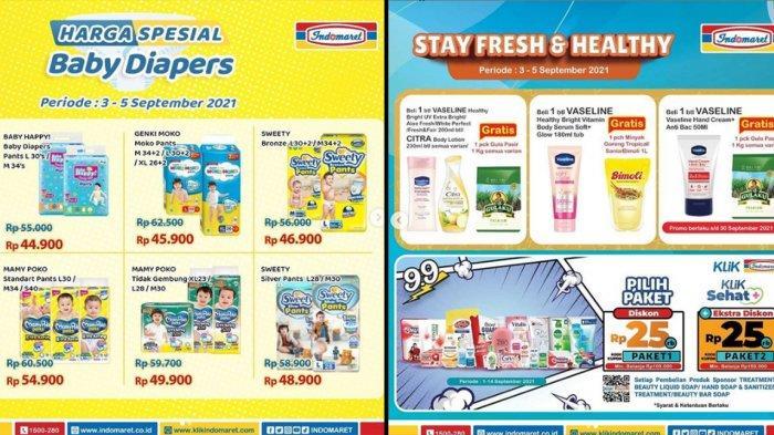 PROMO INDOMARET 5 September 2021, Diapers Murah, Paket Diskon 25%, Gratis Minyak Goreng 1L