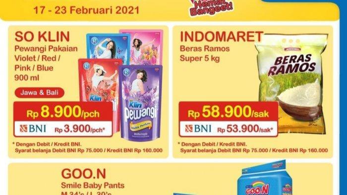 Promo Indomaret hingga 23 Februari 2021, Diskon Beras & Mi Instan, So Klin Pewangi 900 ml Rp3.900