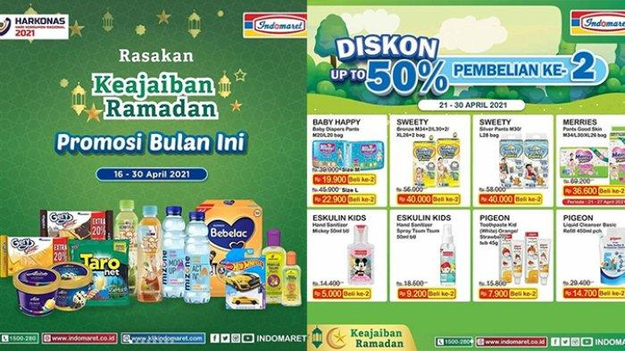 Promo Indomaret hingga 30 April 2021, Minyak Goreng Gratisan, Popok Diskon 50% Pembelian Kedua