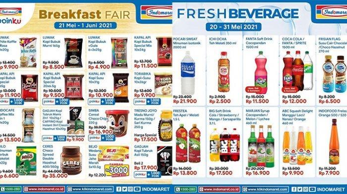 Promo Indomaret hingga 31 Mei 2021, Breakfast Fair Tambah Rp3.000 Dapat 2 Pcs, Beli 2 Gratis 1