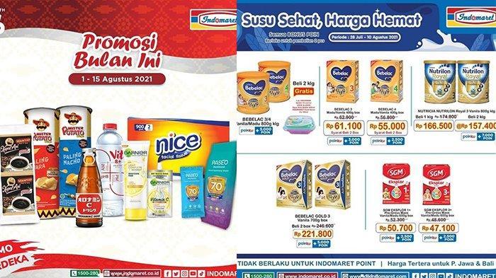 Promo Indomaret TERBARU 1 - 15 Agustus 2021, Snack Tambah Rp2.000 Dapat 2 Pcs, Susu Potongan Rp9.500