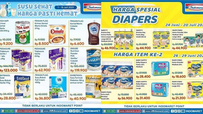 Promo Indomaret 13 Juli 2021, Susu Beli 2 Lebih Hemat, Mi Instan 3 Gratis 1, Promo Diapers Murah