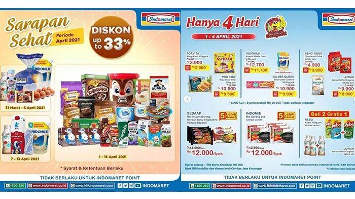 Promo JSM Alfamart dan Indomaret Sabtu 3 April 2021, Diskon Telur Ayam, Snack Beli 2 Lebih Hemat