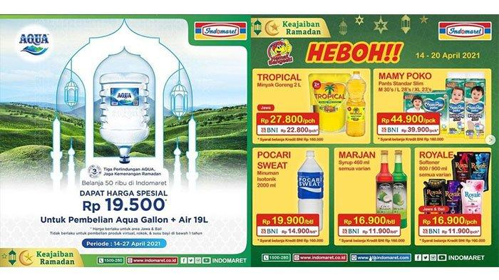 PROMO Indomaret TERBARU 17 April 2021: Aqua Galon+Air Rp19.500, Produk Wardah DISKON, Charm Rp7.900