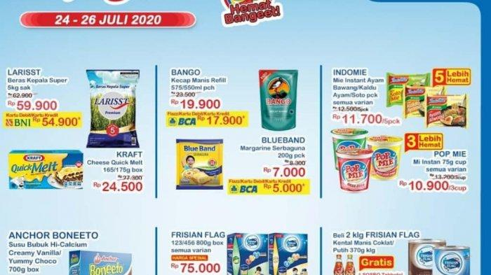 Daftar Harga Produk Promo Indomaret 24-26 Juli 2020 : Beras 5 Kg Rp 59.900, 3 Cup Pop Mie Rp 10.900