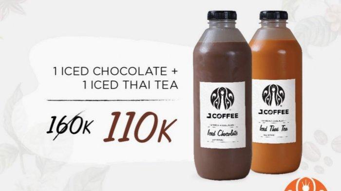 Baru! Promo J.CO Hari Ini 3 Juni 2021, 2 Botol J.Coffee Ukuran 1 Liter Rp 110.000