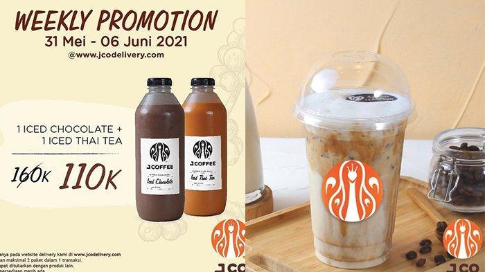 Promo J.CO hingga 6 Juni 2021, 2 Botol J.Coffe 1L Rp110.000, Beli 1 Gratis 1 Iced J.Coccino Rp31.000