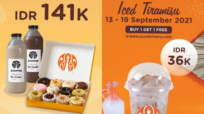 TERBARU! Promo J.CO Periode 13-19 September 2021, 1 Lusin J.CO Donuts + 1 Liter J.Coccino Rp.141.000
