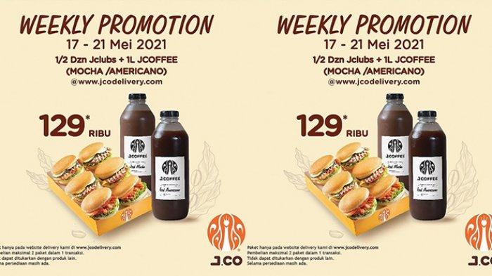 Promo J.CO TERBARU 18-21 Mei 2021, 6 J.Clubs + 1 Liter J.Coffe Rp129.000