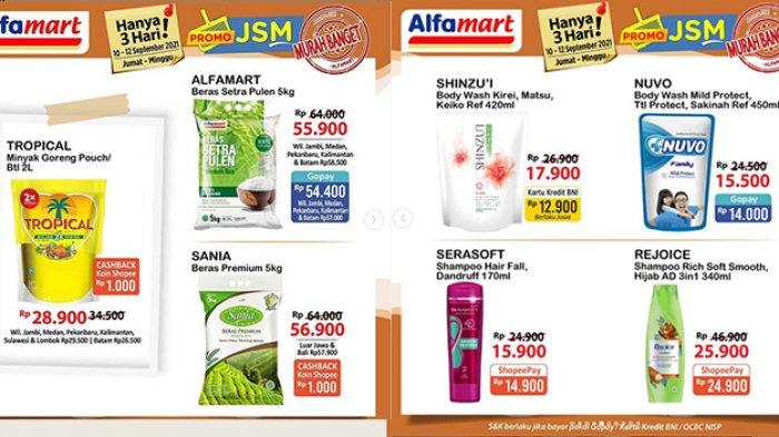 Promo JSM Alfamart TERBARU 10 September 2021, Minyak Goreng Tropical Rp28.900, Shinzui Rp12.900