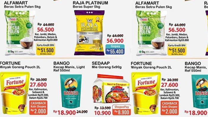 Promo JSM Alfamart 12 Juni 2021, 5 Mie Goreng Sedaap Rp 8 Ribuan, Minyak Goreng Murah, Diskon Beras
