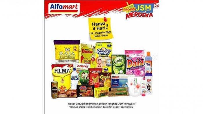 Katalog Promo JSM Alfamart 14-17 Agustus 2020, Promo Merdeka, Diskon Beras, Susu hingga Camilan